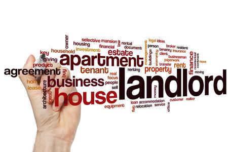 Landlord word cloud concept Imagens - 42054406