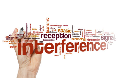 interference: Interference word cloud concept