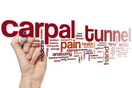 carpal: Carpal tunnel word cloud concept