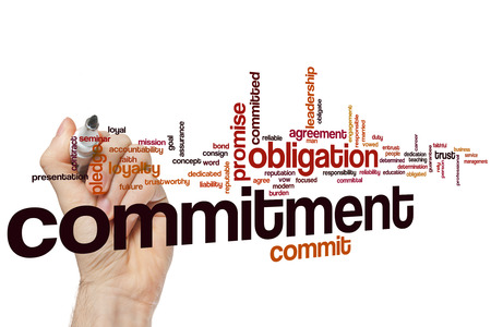 Commitment word cloud concept