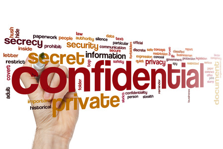 confidentiality: Confidential word cloud concept