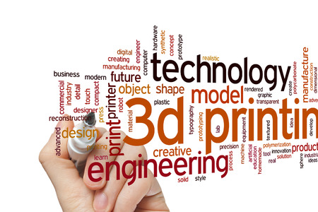 3D printing concept word cloud background
