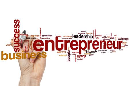 entrepreneur: Entrepreneur word cloud concept