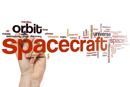 orbital spacecraft: Spacecraft word cloud concept