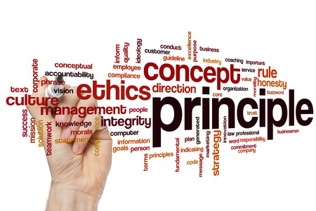 principle: Principle word cloud concept