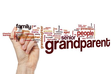 grandparent: Grandparent word cloud concept Stock Photo