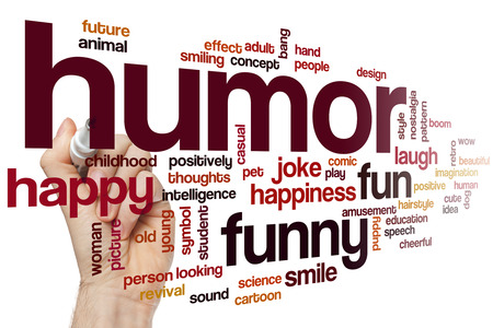 humor: Humor word cloud concept Stock Photo