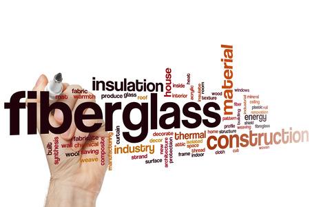 fiberglass: Fiberglass word cloud concept Stock Photo