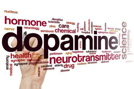 neurotransmitter: Dopamine word cloud concept