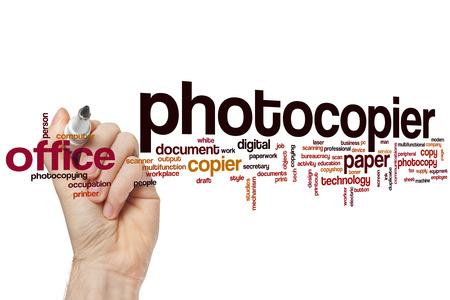 Fotokopierer Wort Cloud-Konzept Standard-Bild - 42054288