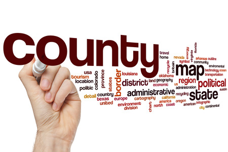 county: County word cloud concept