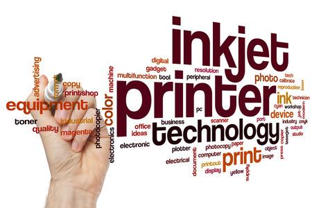 インク ジェット プリンター単語雲概念