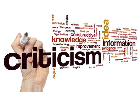 constructive: Criticism word cloud concept Stock Photo