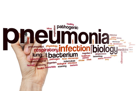 pneumonia: Pneumonia word cloud concept Stock Photo