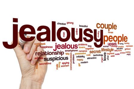 gelosia: Parola gelosia concetto di cloud