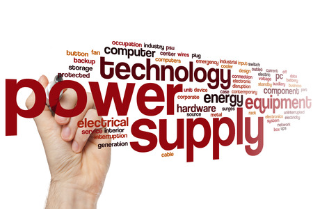 Power supply word cloud concept