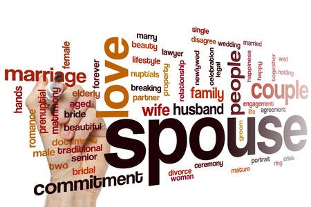 the spouse: Spouse word cloud concept Stock Photo