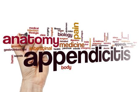 appendix: Appendicitis word cloud concept Stock Photo