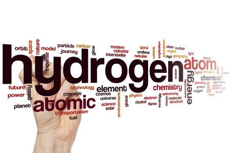 hidrogeno: Hidr�geno concepto de nube de palabras Foto de archivo
