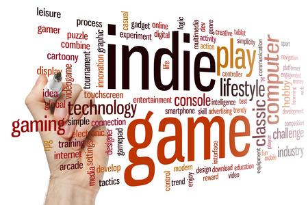 indie: Indie game concept word cloud background