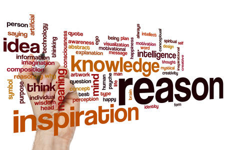 reason: Reason word cloud concept with knowledge idea related tags