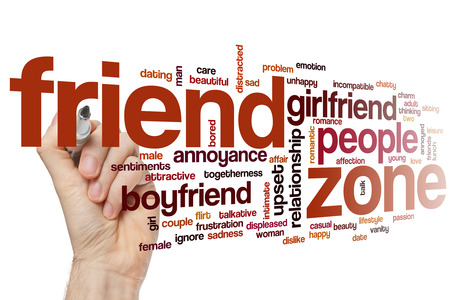 talkative: Friend zone concept word cloud background Stock Photo