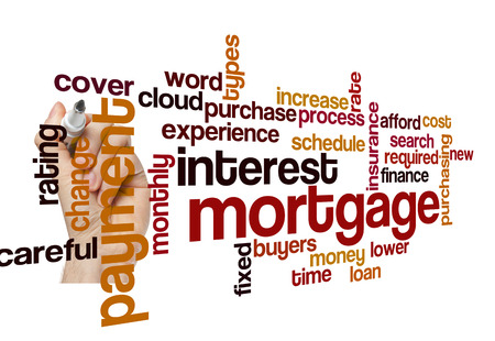 fixed rate: mortgage interest payment concept word cloud on white