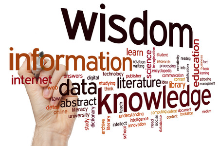 knowledge: Data information knowledge wisdomconcept word cloud background Stock Photo