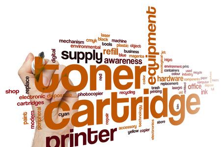 Toner cartridge word cloud concept