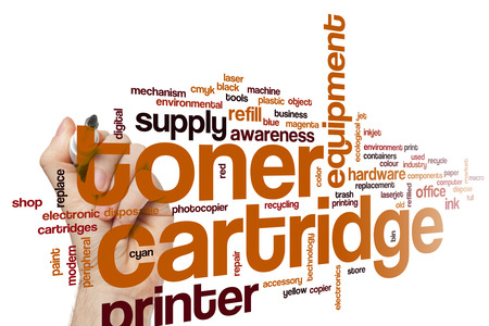 Toner cartridge word cloud concept