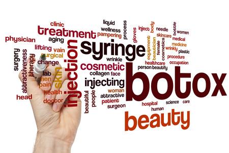 Koncepcja cloud słowo botox