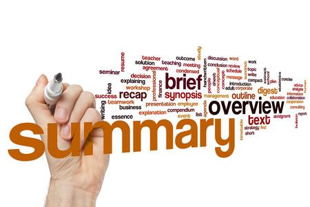 Summary word cloud concept