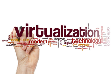 Virtualization word cloud concept