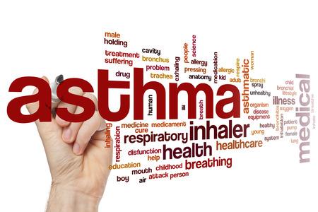 asthma: Asma concepto de nube de palabras