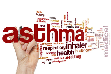 Asthma word cloud concept Stock Photo
