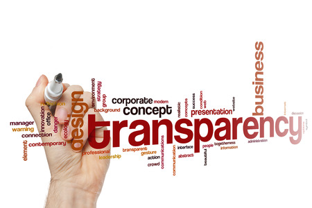 Transparency concept word cloud background