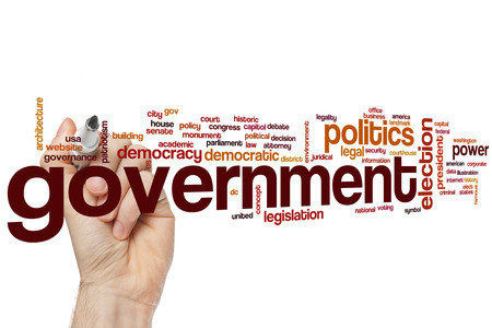 senate elections: Government word cloud concept Stock Photo