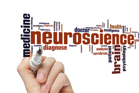 Neuroscience concept word cloud background