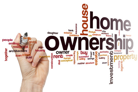 home ownership: Home ownership word cloud concept