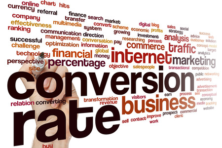 такса: Conversion rate concept word cloud background Фото со стока