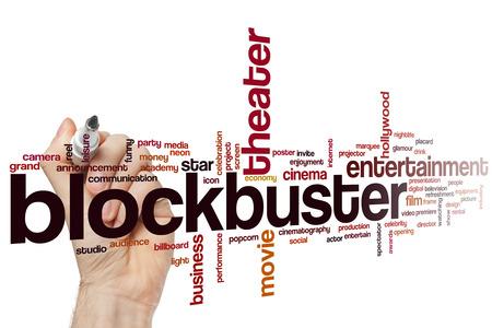 blockbuster: Blockbuster word cloud concept