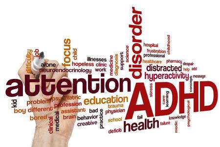 ADHD の単語の雲の概念 写真素材