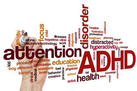ADHD word cloud concept Stockfoto