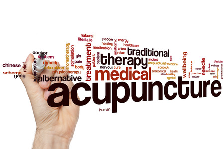 Acupuncture word cloud concept Фото со стока - 42054148