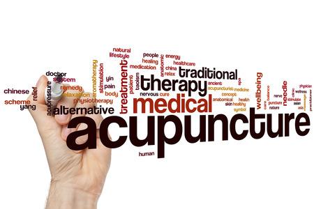 acupuntura china: Acupuntura concepto de nube de palabras
