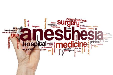 Anesthesia word cloud concept Standard-Bild