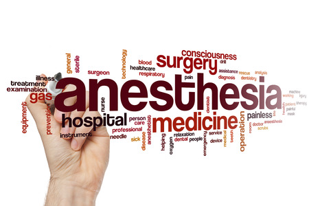 Anesthesia word cloud concept Stockfoto