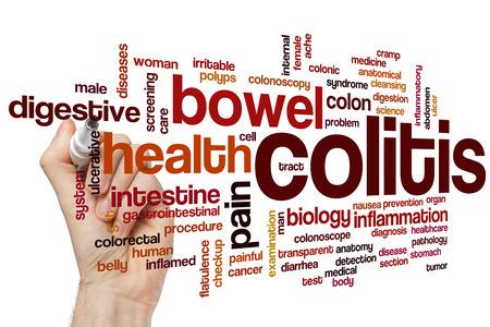 colorectal cancer: Colitis word cloud concept