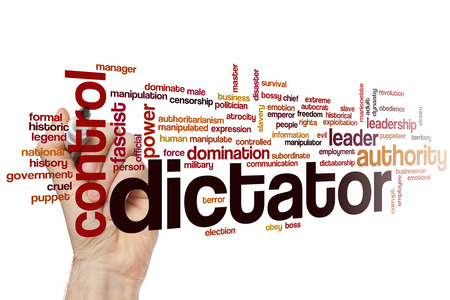 dictator: Dictator word cloud concept Stock Photo