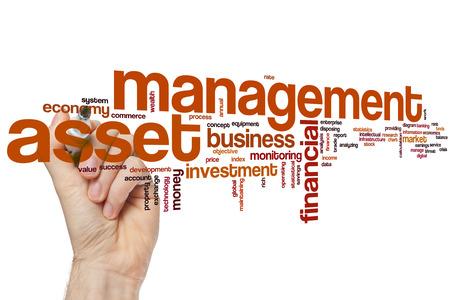 Asset management word cloud concept